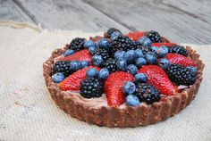 Nutella & Berry Pie with Pretzel Crust - pretzel recipes curated by SavingStar Grocery Coupons. Save money on your groceries at SavingStar.com