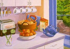 Roxa Smith: Kitchen House Art, Paintings, Interior, Purple, Paint, Indoor, Painting Art, Interiors, Painting