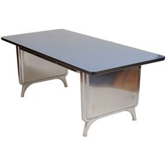 Polished Steel Library Table by All Steel   From a unique collection of antique and modern desks and writing tables at http://www.1stdibs.com/furniture/tables/desks-writing-tables/