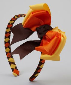 Take a look at this Brown & Orange Braided Headband & Clip by Pink Laundry Boutique on #zulily today!