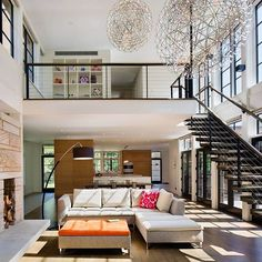 Beautiful & bright living area in this New York home