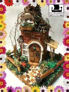 Casa de Duendes - Pieza única, realizada con elementos naturales, completamente a mano. Detalles artísticos.  #fairy_gardens - #fairies -  #jardín_de_hadas #gnome_houses  - #casas_de_duendes