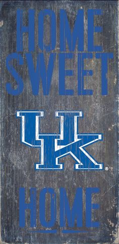 Is your home a Kentucky Football Home? Then you need this sign. This Kentucky sign is perfect for displaying around the home. It includes a piece of rope attached to the back for hanging. The sign is