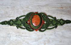 Macrame Bracelet with Jasper by Coco Paniora Salinas of Rumi Sumaq