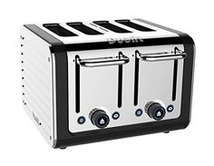 Dualit 46555 4-Slice Design Series Toaster, Black and Steel - http://sleepychef.com/dualit-46555-4-slice-design-series-toaster-black-and-steel/