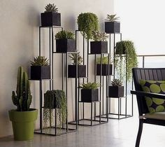 Quadrant Plant Stand with Four Planters (C). Green Indoor plants Tropical Boho Bohemian Relax Nature Hippy Bold Paint Styling Interior Design Home Botanical Decor, House Design, Diy Plant Stand, Indoor Plants, Garden Design, Herb Garden Design, Plant Stand, Home Decor, Decor Display