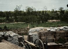 Confederate Trench Around Atlanta After Being Colorized