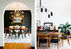 Where to Splurge and Where to Save in the Dining Room, Laurel & Wolf, dining-room-lighting Ikea Dining Table, Dining Area, Dining Rooms, Old Chairs, Dining Room Lighting, Home Hacks, Dining Room Design, Wooden Tables, Sweet Home