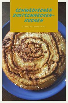 Zimtschnecken sind super lecker, manchmal aber auch ziemlich aufwendig. Mit diesem Kuchen bekommst Du den Geschmack einer schwedischen Zimtschnecke, aber die Zubereitung geht viel schneller. Dieser Kuchen aus Schweden ist eine Art Kladdkaka, der ein etwas weicheres Innere hat.#einfachschweden #zimtschnecke #kanelbulle #kladdkaka Fika, Super, Diy And Crafts, Eat, Breakfast, Desserts, Danish Cake, Norwegian Cuisine, Swedish Cuisine