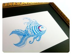 """""""JANUAREIF"""" - Fisch Brunhilde - A5 GlossyDruck"""