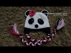 ▶ Passo a passo Touca Ursinho Panda Parte-1 - YouTube