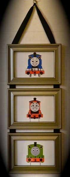 Kids Room Thomas The Tank Engine Train & by BirdieGirlsTreasures