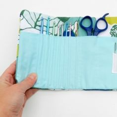 Sew a crochet hook case with a link to a free tutorial and pattern!  via @Maren Fine Creative
