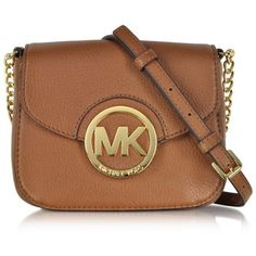 Michael Kors Handbags Fulton Luggage Leather Small Crossbody Bag ($145) ❤ liked on Polyvore featuring bags, handbags, shoulder bags, purses, bolsas, brown leather crossbody, crossbody shoulder bags, brown leather purse, crossbody handbags and brown shoulder bag