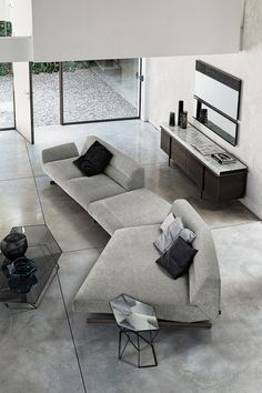 Awesome modern sofa design ideas 00067 ~ Home Decoration Inspiration Living Room Decor Colors, Living Room Sofa Design, Bedroom Decor, Contemporary Sofa, Contemporary Interior Design, Sofa Furniture, Furniture Design, Modern Sofa Designs, Modern Design