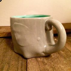 Teal elephant mug is back! Grab one while they last!