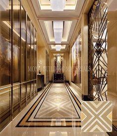 Foyer Design, Lobby Design, Ceiling Design, House Design, Italian Marble Flooring, Foyer Flooring, Marble Interior, Neoclassical Interior, Showroom Interior Design