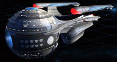 starships | Star Trek Online – Tier 3 Starships – Federation Research Science ...  This looks like a fusion between standard Start Trek/Federation design and the crew compartment of the ship Discovery from 2001 :A Space Odessey