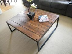 Reclaimed pallet wood coffee table.