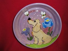 Cocker Spaniel 10 Dog Bowl for Food or Water Personalized at no Charge Signed by Artist Debby Carman *** For more information, visit image link.(This is an Amazon affiliate link)