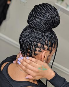 Box Braids Hairstyles, Black Girl Braided Hairstyles, Roll Hairstyle, Bandana Hairstyles, Baddie Hairstyles, Twist Hairstyles, Hairstyles 2018, Men's Hairstyle, Formal Hairstyles