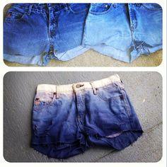 Ombre Jean shorts! #DIY #dye #thriftstore #jeanshorts #cutoffs #lfatta @lfatta
