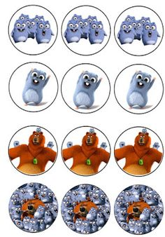 Musings of an Average Mom: Grizzly and the Lemmings Cupcake Toppers 7th Birthday Party Ideas, Baby Birthday, Birthday Decorations, Masha And The Bear, Cupcake Toppers, Baby Quilts, Birthdays, Ale, Novelty Cakes