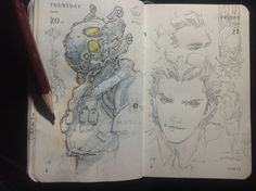Number 172 of Kenneth Rocafort's 365 day sketch project