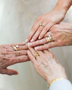 generations of wedding rings, wish my grandma could be here for my wedding day Perfect Wedding, Dream Wedding, Wedding Day, Seaside Wedding, Party Wedding, Gold Wedding, Elegant Wedding, Wedding Bride, Wedding Dresses