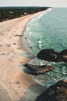 Beach as far as the eye can see