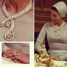 Sheika Mozah of Quatar in Cartier