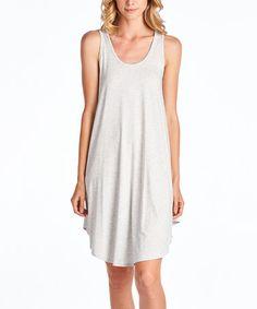 Light Gray Sleeveless Dress #zulily #zulilyfinds