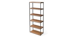 """Archive Rustic Oak 77""""H Bookcase - Shelves - Article 