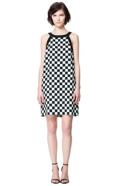 Yes, Please. CHECKERED PRINT DRESS - Dresses - Woman   ZARA United States