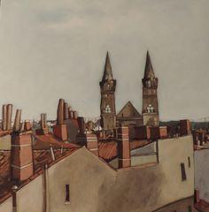 """""""Huile sur toile"""" Thème: Les toits de Toulouse"""