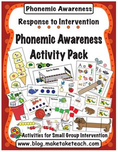 15 activities designed for teaching isolating sounds, blending, segmenting and phoneme deletion. Great for your small group intervention and aligned with DIBELS Next. Kindergarten Language Arts, Kindergarten Literacy, Language Activities, Literacy Activities, Preschool, Alphabet Activities, Early Literacy, Teaching Resources, Phonemic Awareness Activities