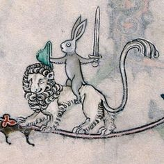 Weird Medieval Marginalia Part III peashooter85:  Because sometimes Medieval monks got bored…