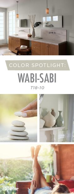 Add a burst of color to your home with the help of BEHR Paint's Color of the Month: Wabi-Sabi. This neutral gray-green hue is sure to bring a calming, cozy feel to the interior design of your home. Pair with light creams and natural wood hues to bring out the warm undertones in this stylish shade.