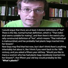 And the award for most bluntly and geniusly hilarious goes to Hank Green.