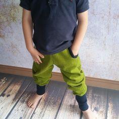 Kiwi Breitcord Pumphose blau grün so cool 74 – 152 | Emilias Traumwerkstatt