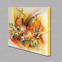 Pintados à mão Abstracto / Floral/Botânico Pinturas a óleo,Modern / Clássico 1 Painel Tela Hang-painted pintura a óleo For Decoração para de 2017 por €73.49