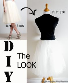 DIY The Look: Anthropologie Tulle Skirt - No Pattern Needed