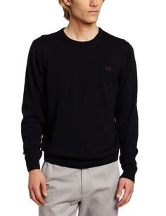 Fred Perry Men's Needlepunch Crew, Navy, X-Large « Impulse Clothes