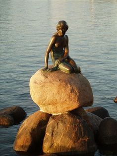 Bucket List: Little Mermaid Statue, Copenhagen, Denmark, home of Hans Christian Anderson