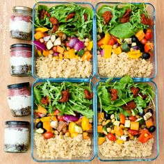 High protein vegan meal prep with layered quinoa salad and seed berry cheesecake pots. Easy and healthy oil free recipes full of nutrition and plant protein poweredbyplants vegan veganrecipe plantbased veganbodybuilding 129760032998590844 High Protein Vegan Recipes, Vegan Protein, Protein Foods, Healthy Foods To Eat, Healthy Snacks, Vegetarian Recipes, Healthy Recipes, Plant Protein, Free Recipes