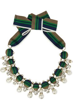 Tory Burch | Insley gold-plated, crystal and faux pearl necklace | NET-A-PORTER.COM