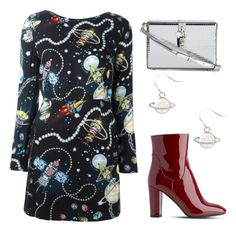 """""""cosmic love"""" by lula-kruta ❤ liked on Polyvore featuring Love Moschino, L.K.Bennett and Dolce&Gabbana"""