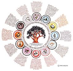 Indian Medicine Wheel. I love this, but can barely read the writing. Is there a larger version anywhere?