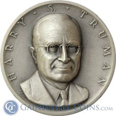 President Harry S. Truman Silver Art Medal - Medallic Art http://www.gainesvillecoins.com/category/293/silver.aspx