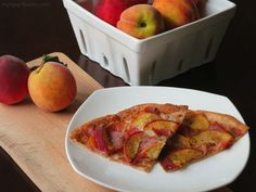 Prosciutto Peach Pizza from My Heart Beets